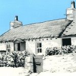 Great illustration of a cottage by Adam Berry