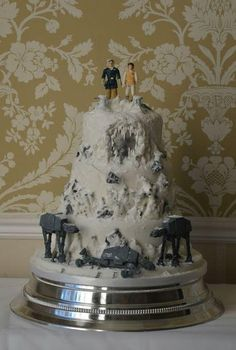 Star Wars Empire Strikes Back - Battle Of Hoth Wedding Cake