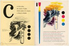 Bradbury Thompson, Westvaco Inspirations, 1950s Magazine Spreads, 1950s, Cool Designs, Layout, Graphic Design, Illustration, How To Make, Cards, Modernism
