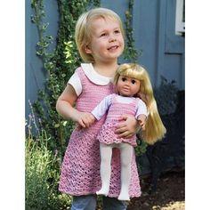 """Dolly & Me Tunics - Child's size 2-6 (23-26"""") - Doll Kits & Dolls - Knit & Crochet"""