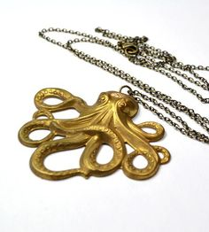 Large Vintage Octopus Necklace ➨ http://scoutmob.hardpin.com/tracker/c.php?m=HardPin&u=type337&cid=950&url=http://scoutmob.com/p/Large-Vintage-octopus-Necklace-city-owl?ref=cat_jewelry&sort=new&signup=0&via=HardPin&u=type337