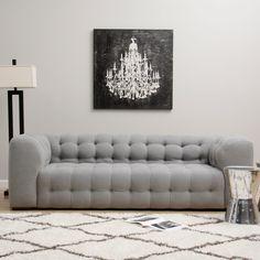 Sackville Nova Steel Linen Sofa   Overstock.com Shopping - Great Deals on Sofas & Loveseats