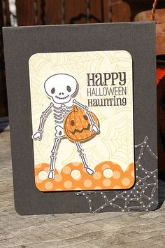 Happy Halloween Haunting Card by Heather Nichols for Papertrey Ink (September 2012)
