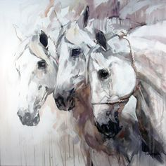 Cobra Three by Sally Martin, Acrylic, 32 x 32 Watercolor Horse, Watercolor Animals, Pretty Horses, Beautiful Horses, Horse Drawings, Art Drawings, Horse Artwork, Animal Paintings, Horse Paintings