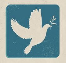 Peace Trivia - The dove and olive branch are found together in the account of Noah's ark in the Bible, and were used symbolically by Jews and early Christians, and eventually were used as a secular peace symbol. This was popularized by Pablo Picasso in 1949 and became widely used in the post-World War II peace movement. www.WorldPeaceDay.org