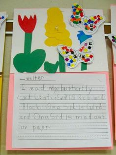 Love Those Kinders!: Butterfly Writing and Flower Gardens