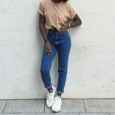 huge selection of 336cf 2ccc4 Get this look More looks by Aude-Julie Alingué lb.nuaudejulie Items in  this look Ellesse Tee, Pull And Bear Mom Jeans, Calvin Klein Socks, Nike  Air Max ...