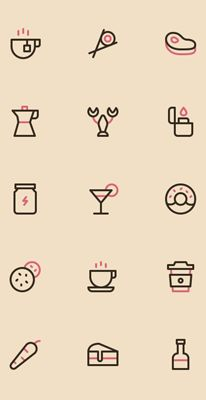 무료 디자인소스 정보 SourceTree Typo Design, Icon Design, Graphic Design, Cute Little Drawings, Cool Drawings, Coffee Logo, Design Research, Line Illustration, Pictogram