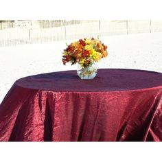 "84"" Premier Round Table Cloth: Premier line round table cloths are available in 10 + Fabrics made of high quality polyester available, all orders are cut and made upon order. Perfect Choice for wholesale round table cloths for your wedding, events, Banquets, Can be also used as round table toppers when table skirting used"