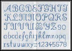 Alfabeto Para Bordar Ponto Russo Passo E Modelo Artesanato  Doocab