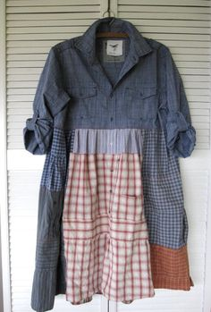Eco upcycled clothing Funky Patchwork dress by lillienoradrygoods
