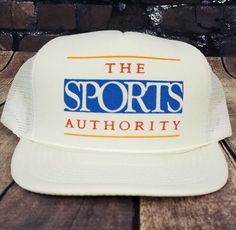 011de86222f8 Vintage Sports Authority Trucker Hat Snapback Baseball Cap 90s #MOHRS # Trucker Street Outfit,
