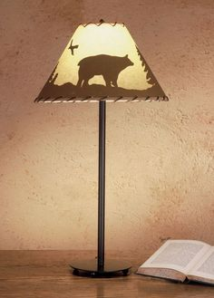 Meyda Tiffany 48465 Table Lamp from the Parchment & Rawhide Collection Mahogany Bronze Lamps Table Lamps Accent Lamps