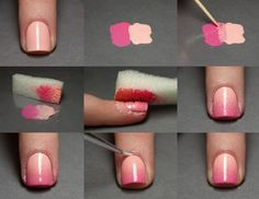 How to Do Ombre Nails With Cotton Balls.. http://wp.me/p2tDQE-1qC ..Nails are the beauty of your hand and it is your responsibility to make sure that they stay that way ... #Ombre #Nails #Nail Art Stickers #Nail Art Tutorial