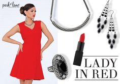 Steal the runway with E! Park Lane Jewelry's black bling. #parklanejewelry #fashion www.myparklane.com/jpanicola