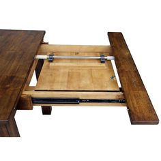 AAmerica Mariposa Dining Leg Table with 2 Self Storing Butterfly Leaves