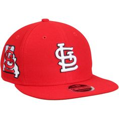 3792048c90d75 Men s St. Louis Cardinals New Era Red State Clip Snapback 9FIFTY Hat
