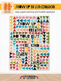 Show Up Breathe Quilt Pattern – Lisa Congdon