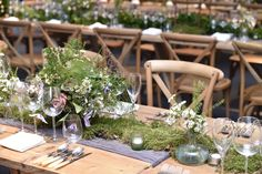 Rustic style wedding with foliage decor