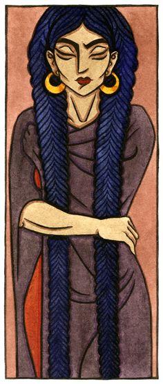 Ereshkigal, Sumerian queen of the dead and ruler of the Underworld. Artwork by Thalia Took. Girls Of The Wilds, Mother Goddess, Female Hero, Sacred Art, Divine Feminine, Gods And Goddesses, Archetypes, Underworld, Religious Art