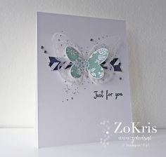 Stampin' Up! - Basic Butterfly, Gorgeous Grunge, Butterflies Thinlits, Watercolor Wings - ZoKris + movie