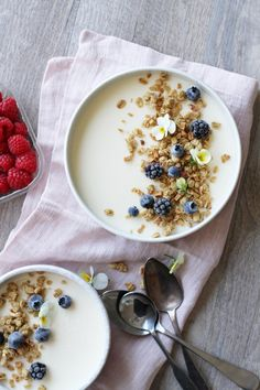 Granola & Yogurt Panna Cotta