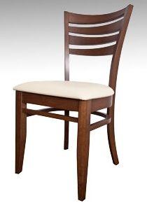 Silla de comedor cruceta con asiento pretapizado estructura