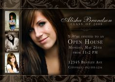 Graduation open house invite example