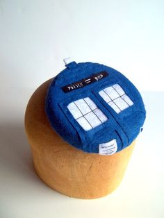 Cocktail Hat Doctor Who Tardis Police Pillbox MADE TO ORDER via Etsy