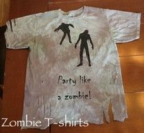 Zombie T-Shirts tutorials!!!!!  From Homemade Mamas