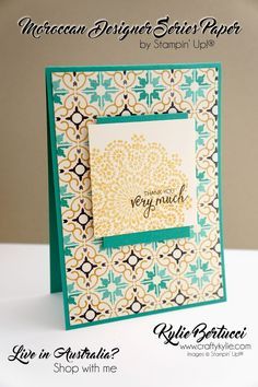 Stampin' Up! Australia: Kylie Bertucci Independent Demonstrator: VIDEO: Want to make 72 cards FAST? Watch this! Ramadan Cards, Bday Cards, Stampin Up Catalog, Paper Cards, Men's Cards, Beautiful Handmade Cards, Stamping Up Cards, Card Making Techniques, Card Sketches