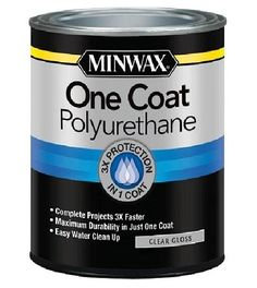 Minwax One Coat Polyurethane Semi-Gloss Water-Based Polyurethane (Actual Net Contents: Oz) 356150000 Method Soap, Quarts Crystal, Container Size, Minwax, Wood Surface, Lowes Home Improvements, Clean Up, Wood Projects, Woodworking Projects