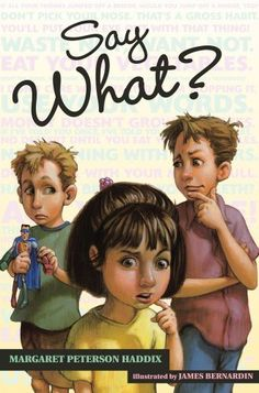 Say What? (Ready-for-Chapters) by Margaret Peterson Haddix, http://www.amazon.com/dp/0689862563/ref=cm_sw_r_pi_dp_auU.rb0P6S912