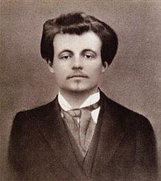 Alfred Jarry, 1873-1907, France.  Key works:  Ubu Roi (1896); Ubu Cuckolded (1898); Ubu Bound (1899).