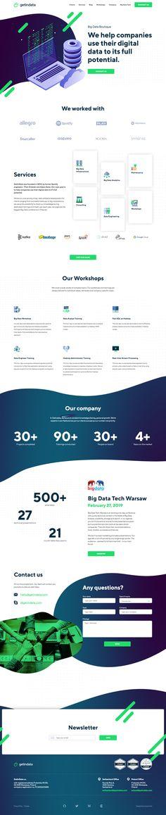 GetInData landing page design inspiration - Lapa Ninja Application Development, Software Development, Big Data Applications, Best Landing Page Design, Big Data Technologies, Sales Presentation, Digital Data, Web Design, Cloud Infrastructure