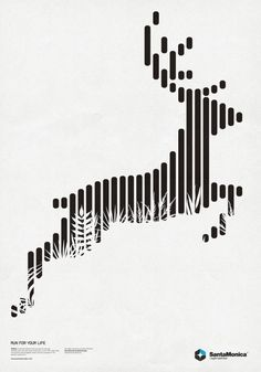 Principle of Design: Proximity  Proximity is created by keeping like items together and creating unity by how close or far the elements are to each other. The differently lengthened bars come together closely to show unity and to create an image portraying the stag.