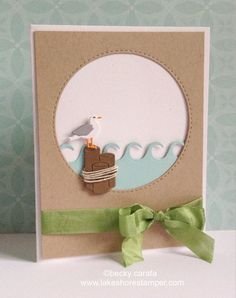 Frantic Stamper Precision Die - Seagull And Pier Posts