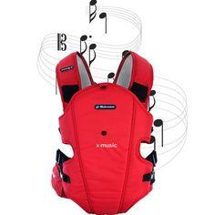 La gran novedad de esta mochila portabebé es que viene equipada con un sistema de altavoces con sonido de alta calidad para proporcionar una sensación única en los paseos del bebé. En casos tan comunes como los cólicos de los primeros meses o las noches en vela, podemos pasear al bebé y tranquilizarlo con una música agradable. Cómprala en: http://www.ninosbebe.com/tienda/Puericultura/Mochilas/BEBEMON-X-music-RJO.html#cont