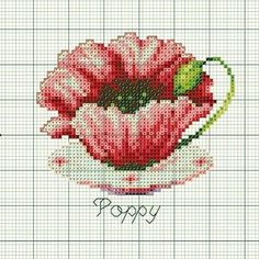 This Pin was discovered by glo Cross Stitch Cards, Cross Stitch Flowers, Cross Stitching, Cross Stitch Embroidery, Embroidery Patterns, Cross Stitch Designs, Cross Stitch Patterns, Beading Patterns Free, Crochet Chart
