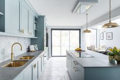 A nutritional therapist's dream kitchen - Sola Kitchens Duck Egg Blue Kitchen, Oval Room Blue, Gold Taps, Brass Handles, Farrow Ball, Eating Plans, Kitchen Styling, Scandinavian Style, Nutrition