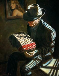 Kai Fine Art is an art website, shows painting and illustration works all over the world. Mark Keller, Tango Art, Music Painting, Natural Area Rugs, Jazz Blues, Blue Art, American Artists, American Realism, Musical
