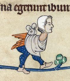 Bunny knot. Pabenham-Clifford Hours, England ca. 1315-1320. Cambridge, Fitzwilliam Museum, MS 242, fol. 40v - via discarding images