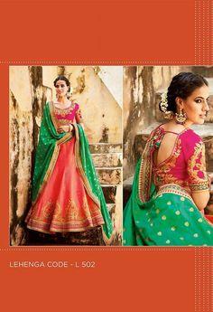 Embroidered Lehenga & Tussar Silk Blouse..@ fashionsbyindia.com #designs #indian #womens #style #cloths #stylish #casual #fashionsbyindia #punjabi #suits #wedding #chic #elegance #beauty #outfits #fantasy #embroidered #dress #PakistaniFashion #Fashion #Longsuit #FloralEmbroidery #Fashionista #Fashion2015 #IndianWear #WeddingWear #Bridesmaid #BridalWear #PartyWear #Occasion #OnlineShopping #salwar #kameez #lehenga Party Wear Lehenga, Georgette Fabric, Embroidered Silk, Wedding Wear, Indian Wear, Chiffon, Punjabi Suits, Stylish, Salwar Kameez