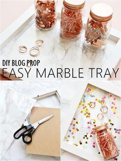 DIY Blog Prop - Easy Marble Tray