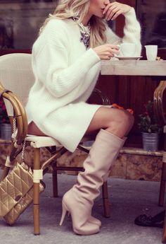 #winter #fashion / knit dress