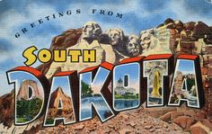 Greetings from South Dakota - Large Letter Postcard by Shook Photos, via Flickr