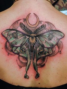 moth moon tattoo - Google Search