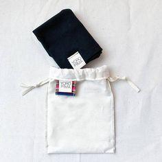 Total Black Slouchy Beanie Super Soft Pima Cotton Size