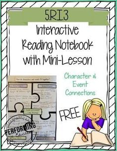 Looking for a fun way to teach Character & Event Connections? This freebie is a blend of lesson plan & Interactive Reading Notebook. The interactive page is paired with a mentor text to use with that lesson. FREE