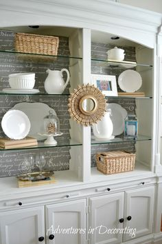 Dining Room Shelves Decorating Idea 32 Best Dining Room Storage Ideas and Designs for 2020 Dining Room Shelves, Dining Room Furniture, Space Furniture, Furniture Sets, Bookcase Styling, Best Dining, Glass Shelves, Decorating Blogs, Furniture Makeover